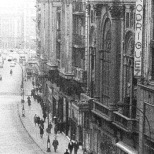 Vista de la Gran Vía de Madrid. Años 60